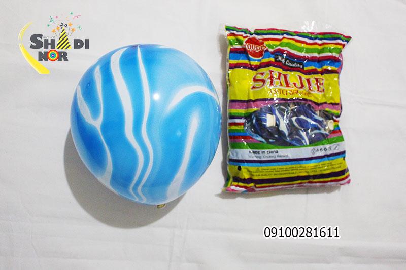 بادکنک شانجان 10 اینچ - فروش عمده بادکنک شانجان آبی