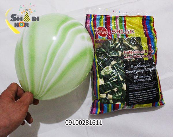 بادکنک شانجان 10 اینچ - فروش عمده بادکنک شانجان سبز