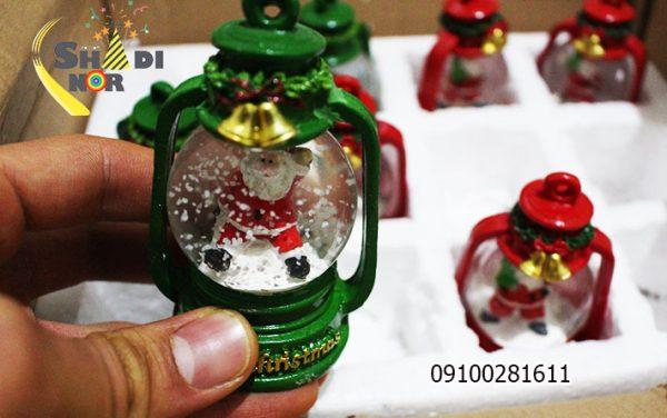 فانوس کریسمس - فروش لوازم کریسمس گوی دار برفی