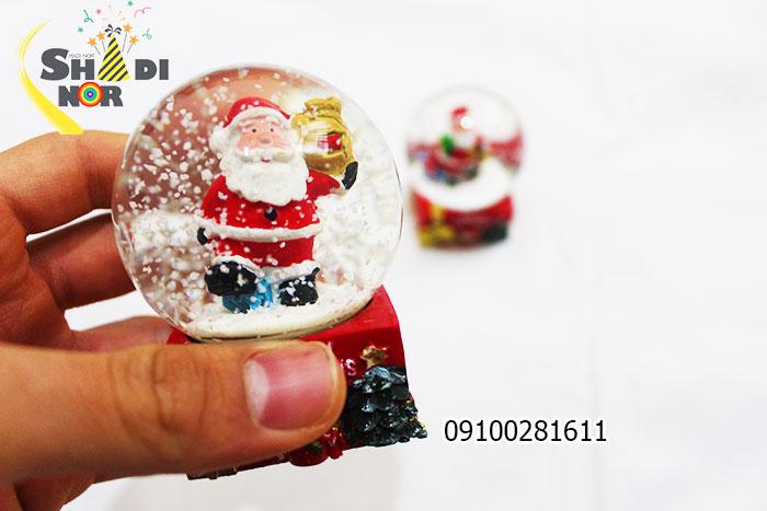 خرید عمده گوی کریسمس گوی موزیکال برفی ساده بالن کریسمس فروش عمده لوازم بابانوئل - فروش پخش کلی