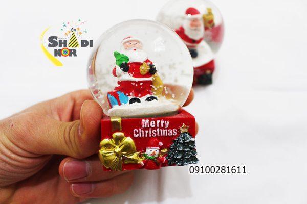 گوی کریسمس گوی موزیکال برفی ساده بالن کریسمس فروش عمده لوازم بابانوئل - فروش پخش کلی