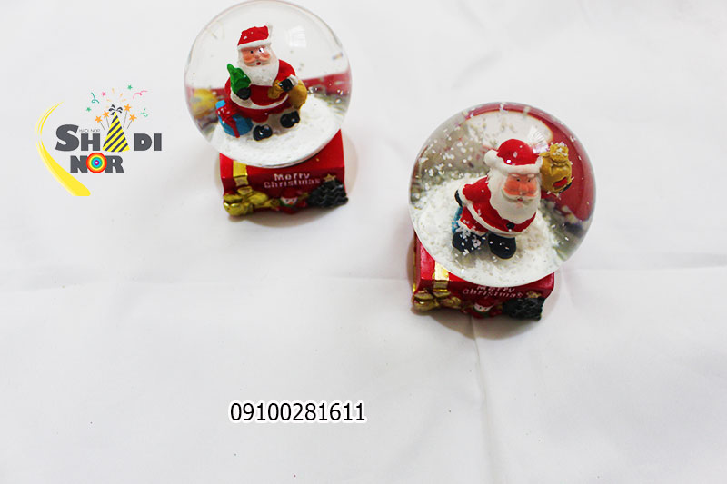 خرید گوی کریسمس گوی موزیکال برفی ساده بالن کریسمس فروش عمده لوازم بابانوئل - فروش پخش کلی