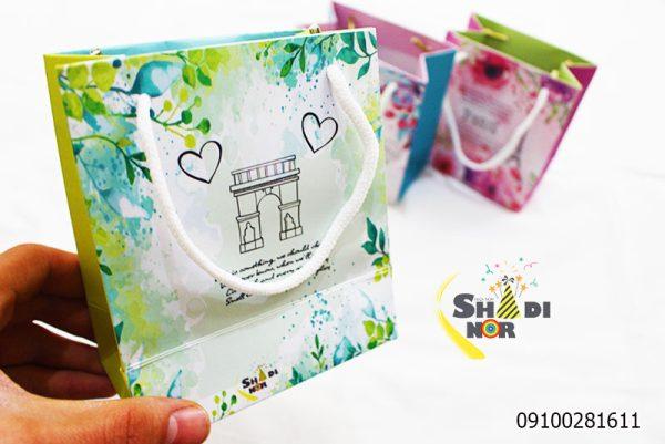 ساک دستی سایز کوچک شادینور فروش عمده لوازم کادویی و ولن تاین در ایران وارد کننده مستقیم