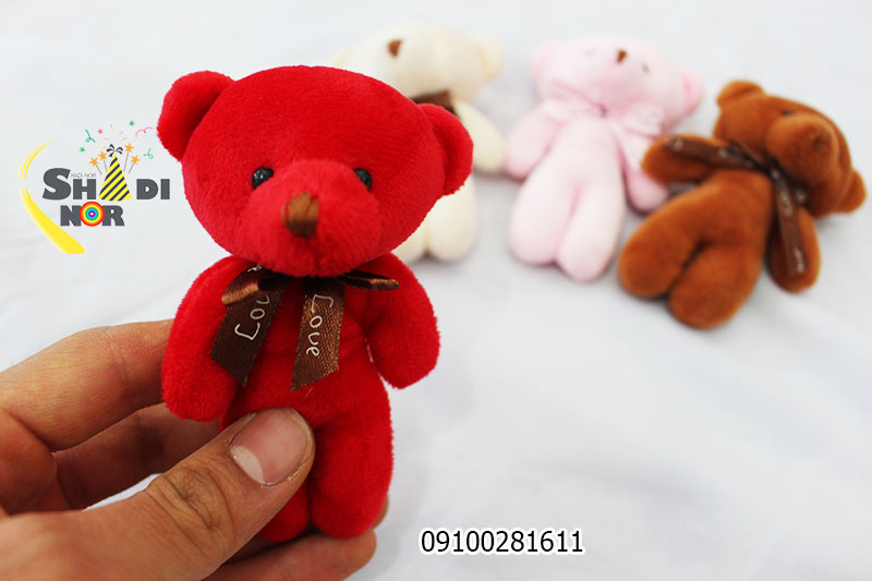 خرس ولنی جاسوئچی آویز پخش بازار عروسک پاپیونی