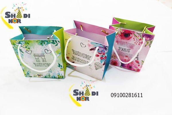 بگ کوچک طلا ساک دستی سایز کوچک شادینور فروش عمده لوازم کادویی و ولن تاین در ایران وارد کننده مستقیم
