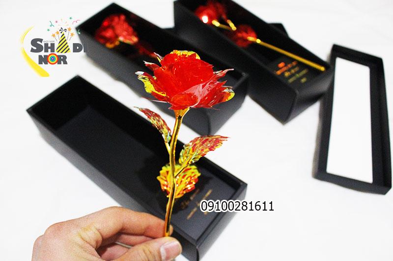 گل فلزی رنگین کمانی 7 رنگ قرمز محصول خاص لاکچری ولنتاین برای فروش و خرید عمده
