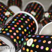 لیوان تولد_خرید عمده اینترنتی لیوان تولد تم مشکی خال رنگی