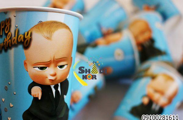 لیوان تولد تم بچه رئیس_خرید عمده آنلاین لیوان تولد تم بچه رئیس