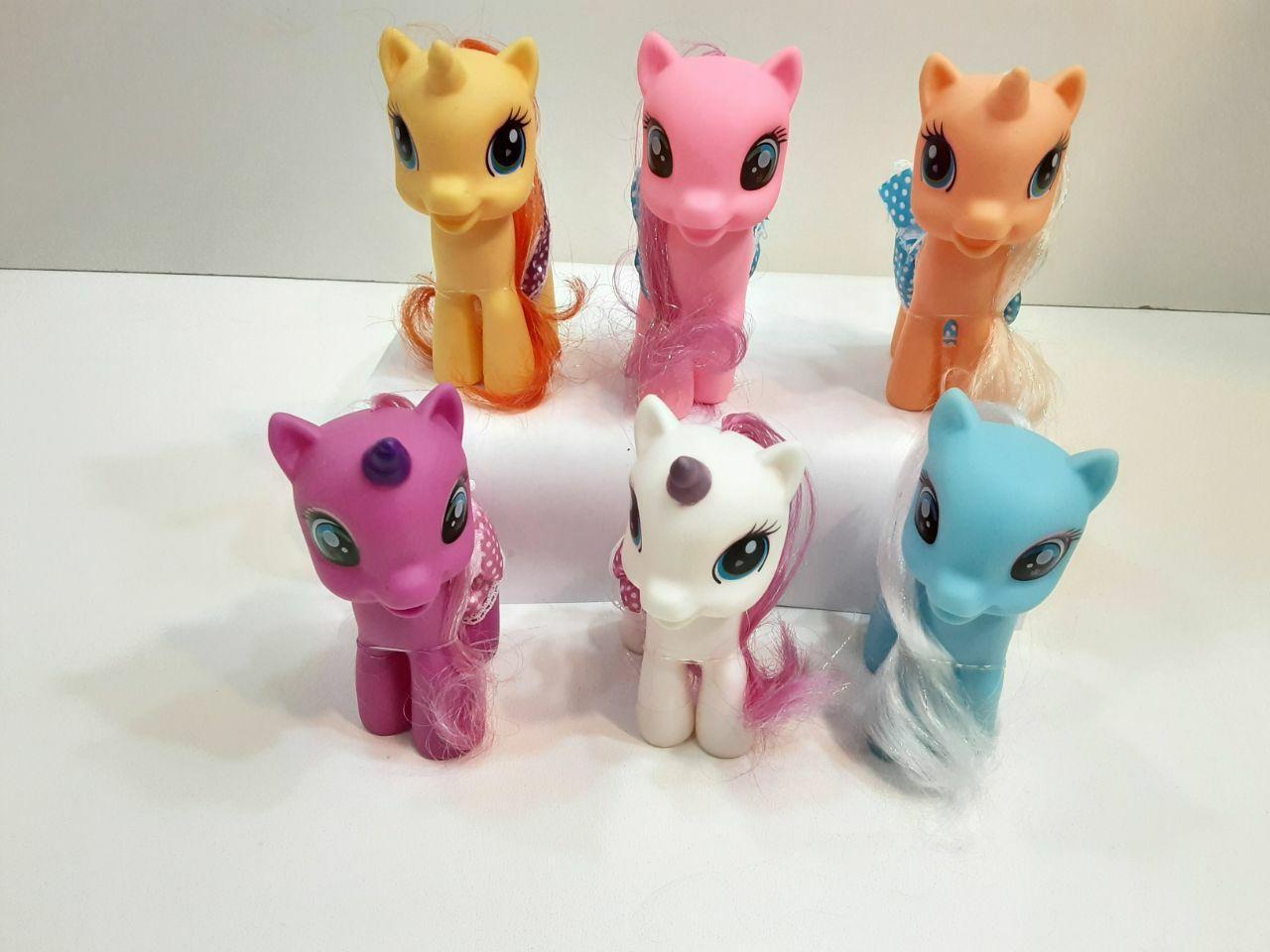 پخش عمده اسباب بازی های دخترانه عروسک پونی 6 تایی