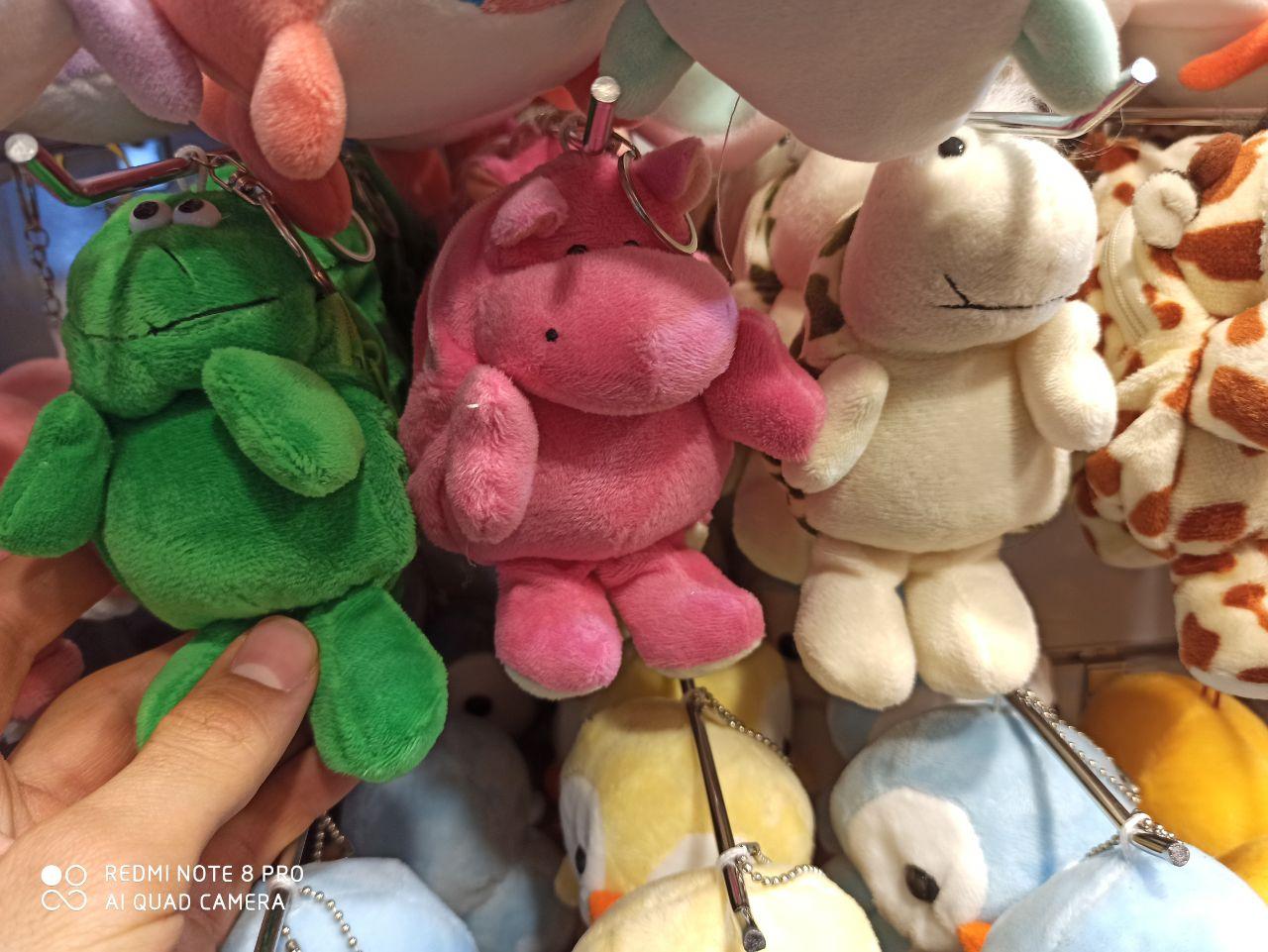 پخش عمده انواع لوازم تزیینی و کادویی جاسوییچی عروسکی طرح حیوانات