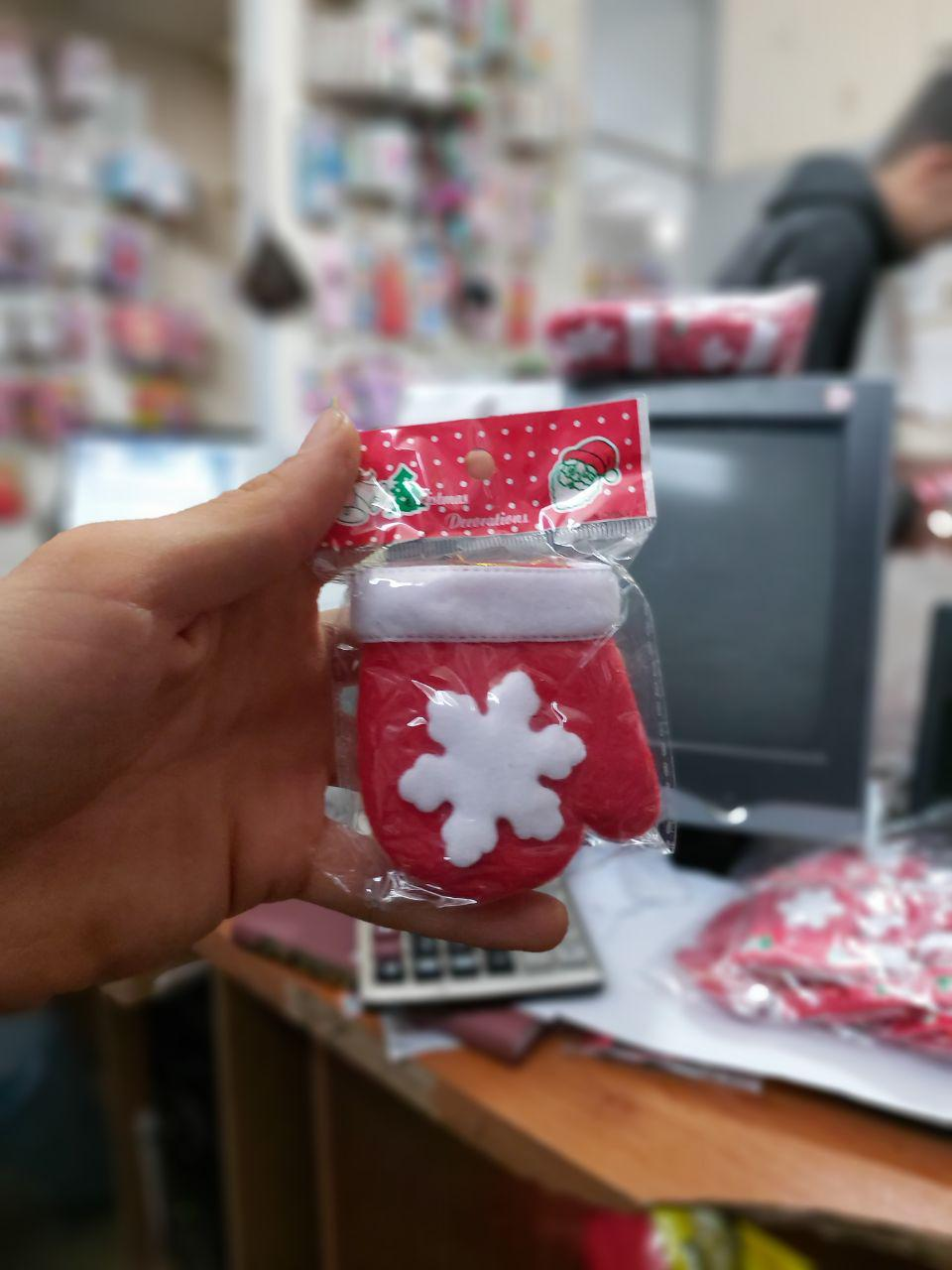 خرید عمده لوازم کریسمس دستکش آویزانی کریسمس