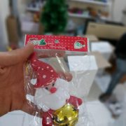 قیمت عمده لوازم کریسمس آویز زنگوله دار بابانوئل