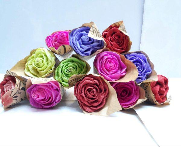 پخش عمده لوازم کادویی و تزیینی تک شاخه گل رز