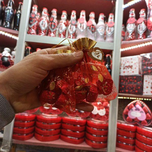 فروش عمده لوازم ولنتاین شکلات ولنتاین طرح گونی