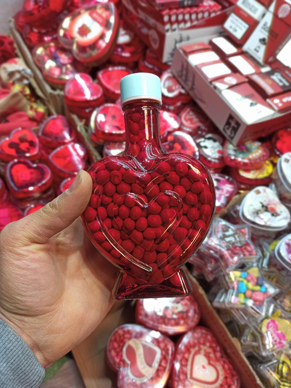 فروش عمده لوازم ولنتاین شکلات ولنتاین طرح بطری قلبی